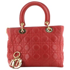 Christian Dior Lady Dior Bag Cannage Quilt Lambskin Medium