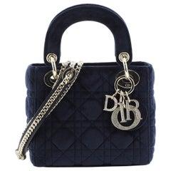Christian Dior Lady Dior Bag Cannage Quilt Velvet Mini