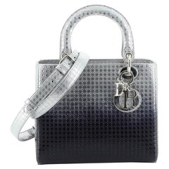 Christian Dior  Lady Dior Bag Ombre Micro Cannage Perforated Calfskin