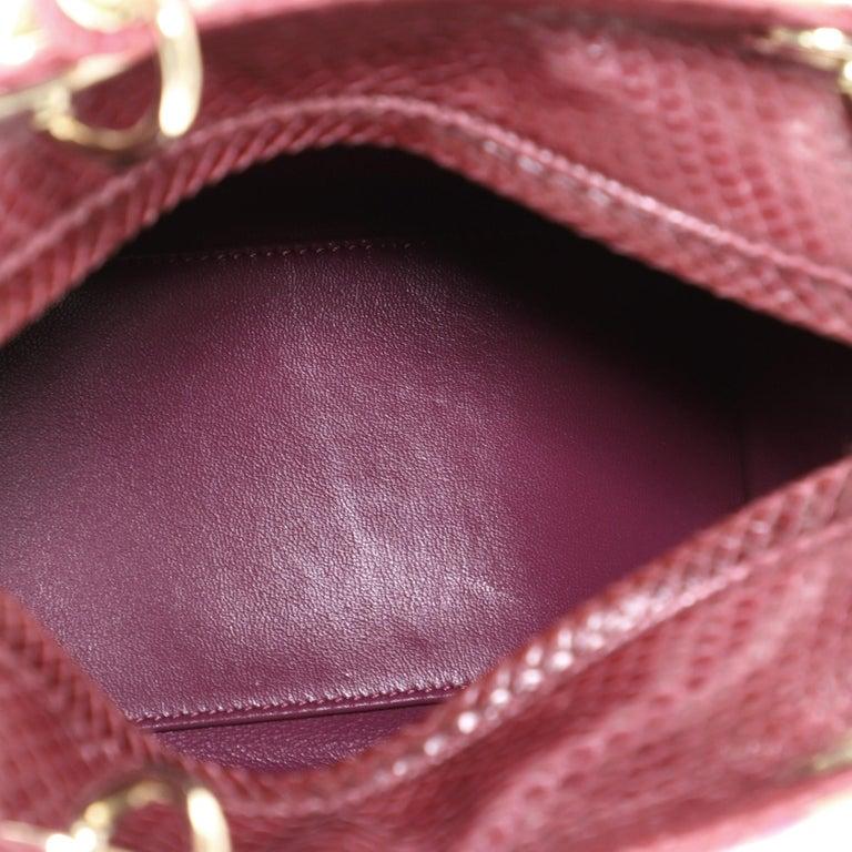 Christian Dior Lady Dior Bag Python Medium For Sale 1