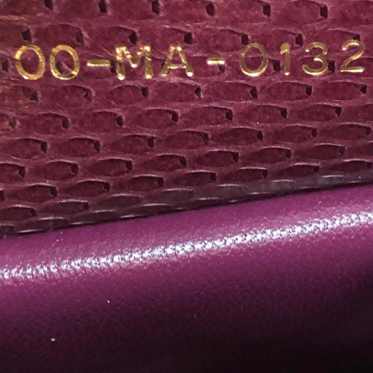 Christian Dior Lady Dior Bag Python Medium For Sale 2