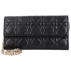 Christian Dior Lady Dior Croisiere Chain Wallet Cannage Quilt Lambskin