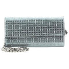 Christian Dior Lady Dior Croisiere Chain Wallet Micro Cannage Perforated Calfski