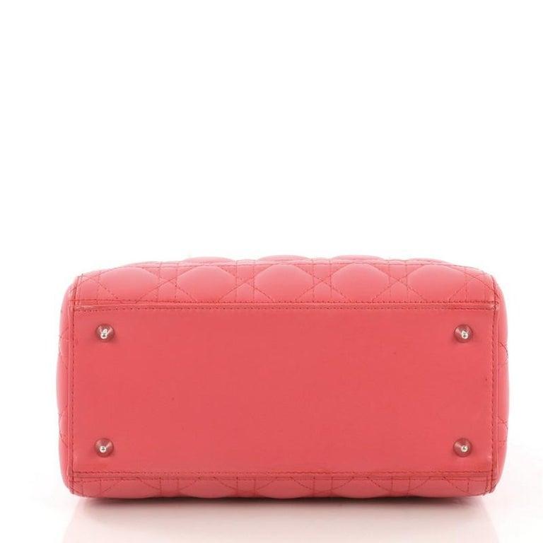 Women's or Men's Christian Dior Lady Dior Handbag Cannage Quilt Lambskin Medium For Sale