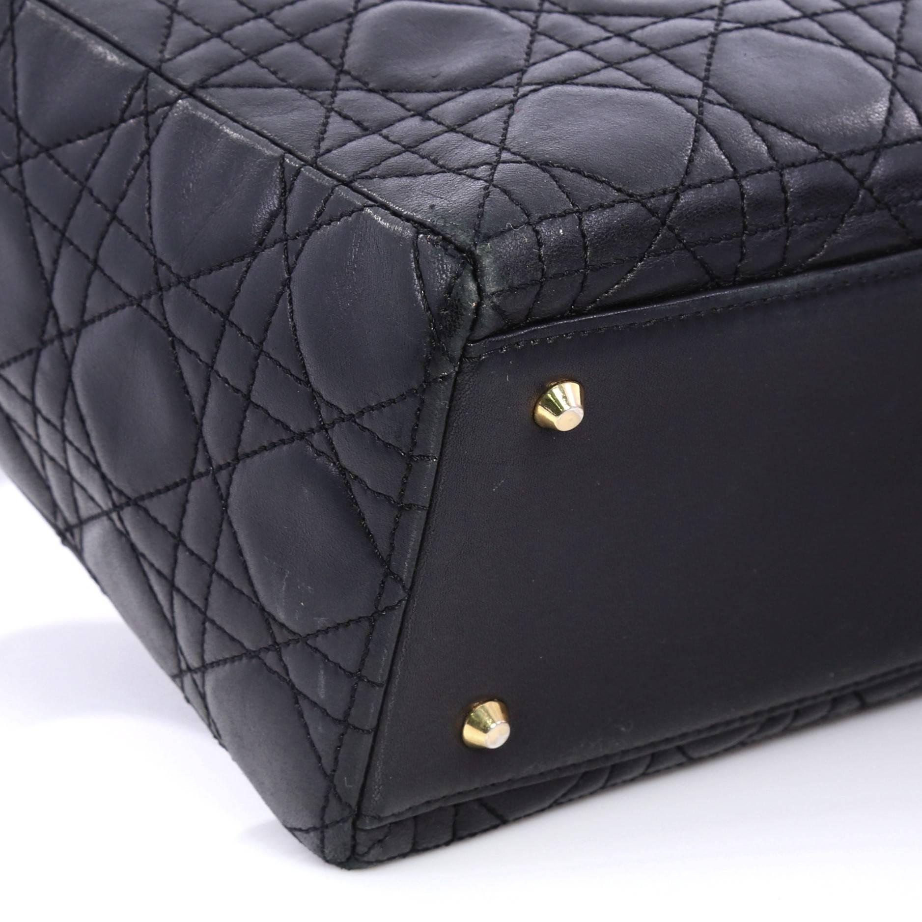 800055d05d09 Christian Dior Lady Dior Handbag Cannage Quilt Lambskin Medium at 1stdibs