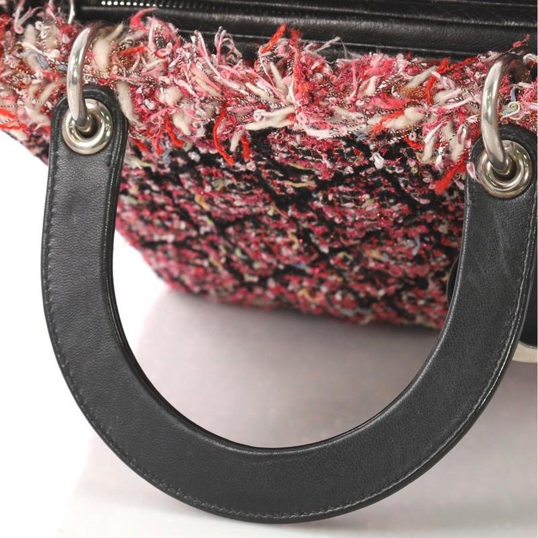 c19cb127642 Christian Dior Lady Dior Handbag Cannage Quilt Tweed with Leather Medium at  1stdibs