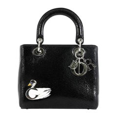Christian Dior Lady Dior Handbag Limited Edition Embellished Crackled Deerskin
