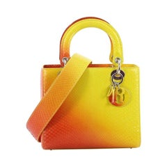 Christian Dior Lady Dior Handbag Python Medium