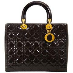 Christian Dior Lady Dior Large Brown Handbag