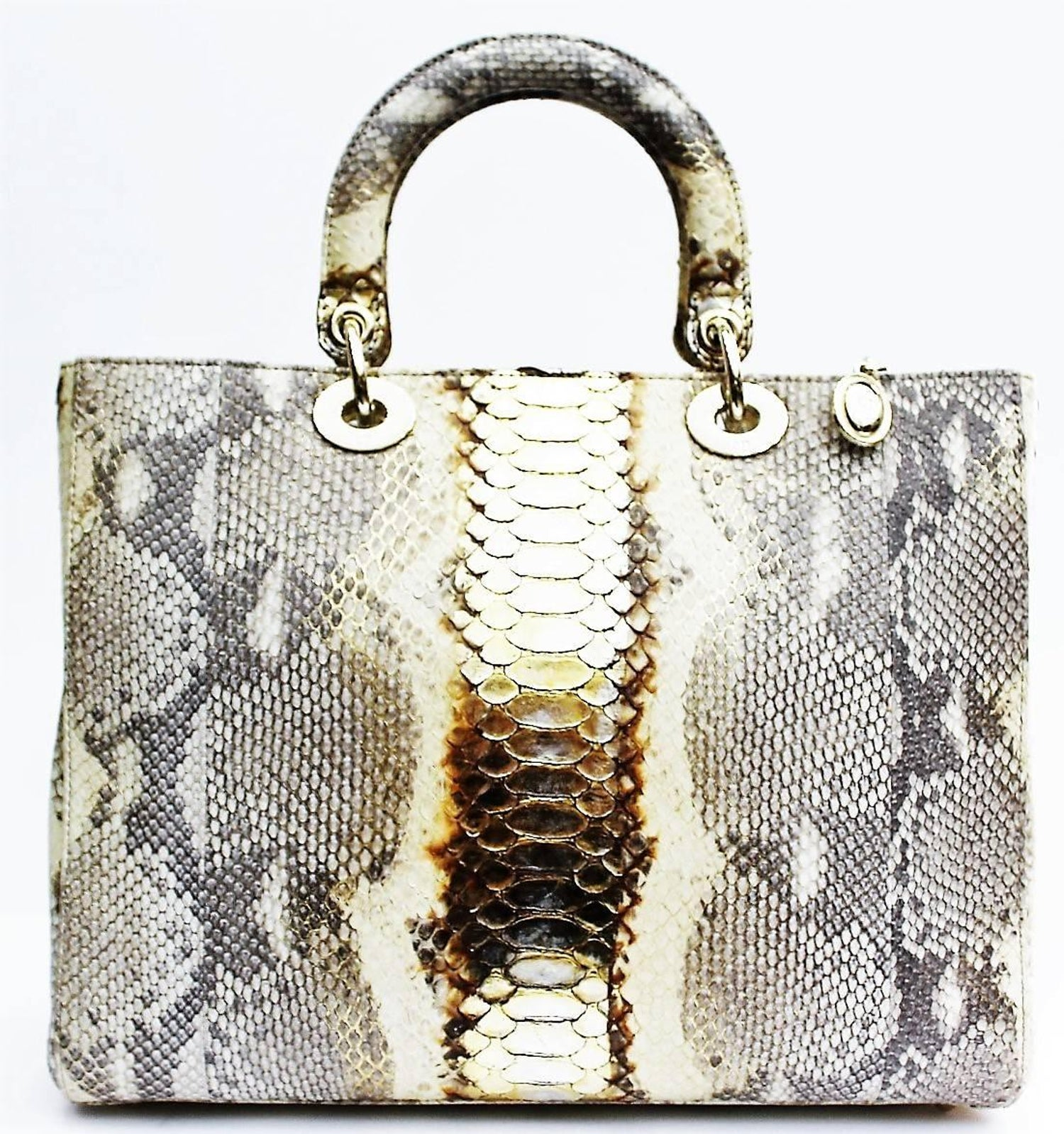 6a07d1c0d7 Christian Dior Lady Dior Large Python Bag at 1stdibs