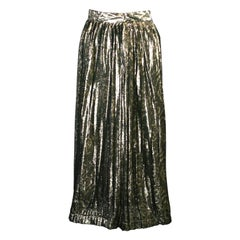 Christian Dior Lame Pleated Skirt