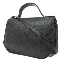 Christian Dior Leather 'CD' Kelly Style Evening Top Handle Satchel Shoulder Bag