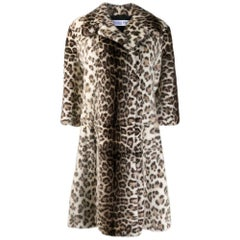 Christian Dior Leopard Mink Fur Coat