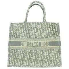 Christian Dior LIKE NEW Grey Oblique Monogram Book Tote