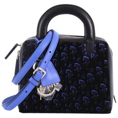 Christian Dior Lily Bowling Bag Oblique Embroidered Fabric Mini