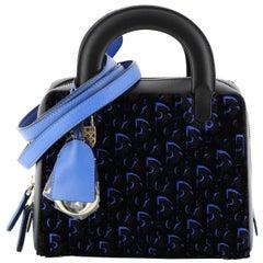 Christian Dior Lily Bowling Bag Oblique Velvet and Canvas Mini