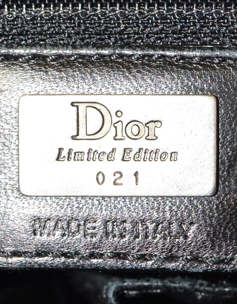 Christian Dior Limited Edition Black Python Shoulder Bag w  Side Pockets  For Sale 4 bc1ae9412c63d