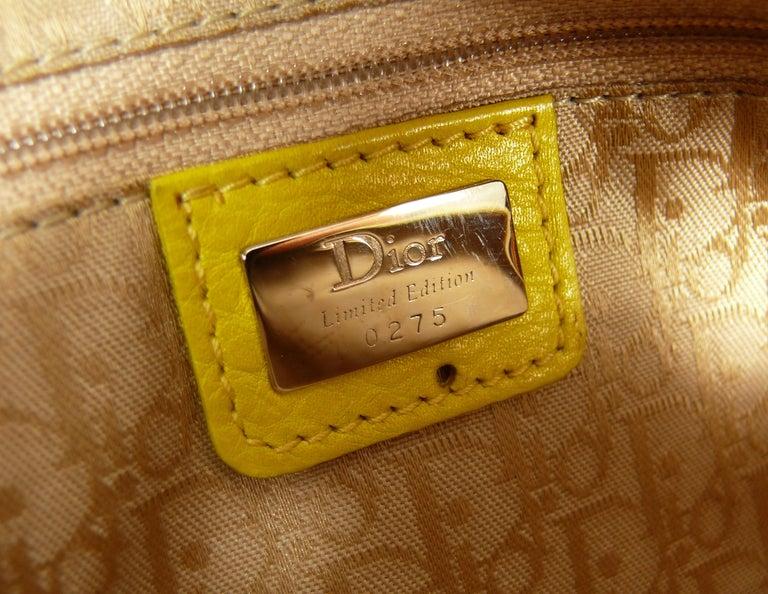 Christian Dior Limited Edition Raffia Flower Bowler Handbag For Sale 12