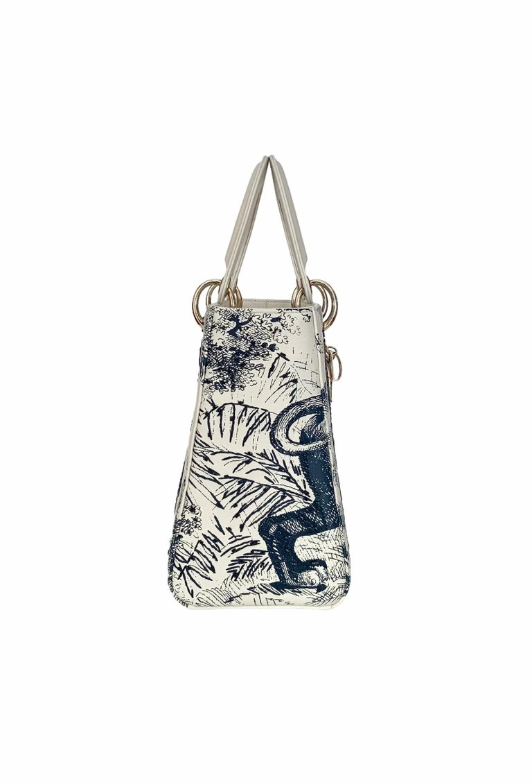 Women's or Men's Christian Dior Limited Edition Toile de Jouy Lady Dior Medium Bag
