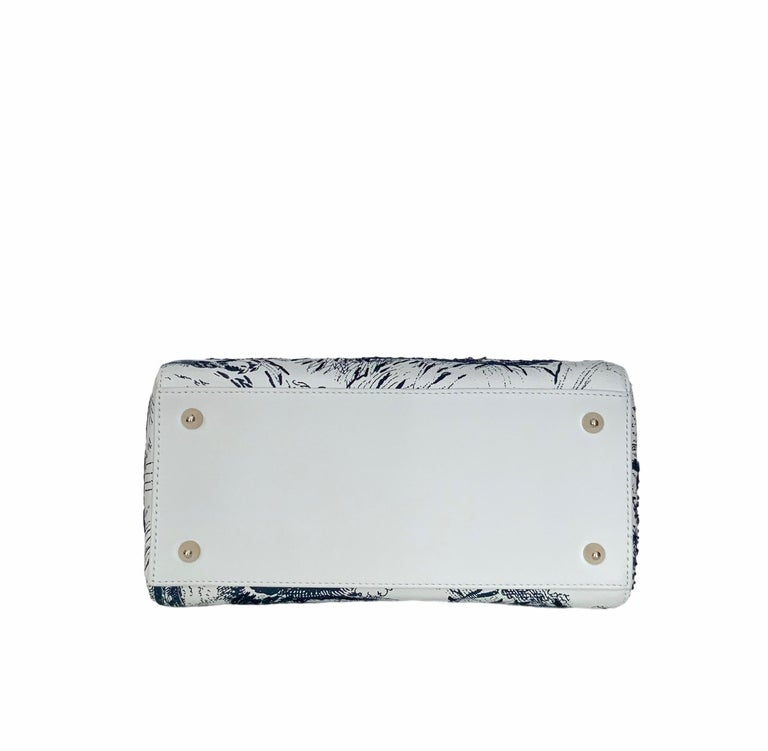 Christian Dior Limited Edition Toile de Jouy Lady Dior Medium Bag 2