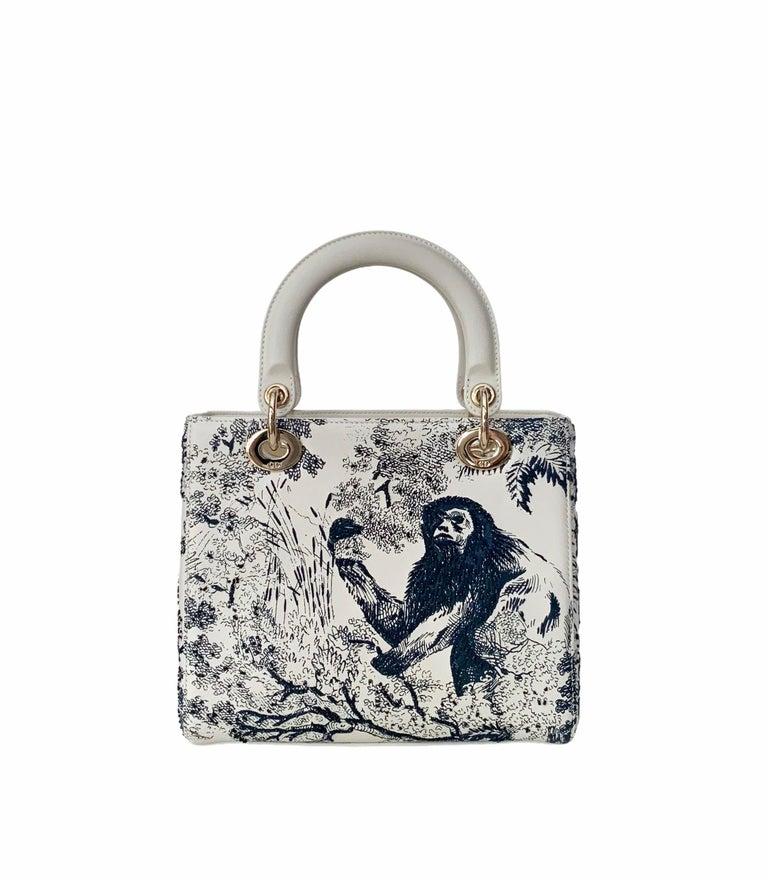 Christian Dior Limited Edition Toile de Jouy Lady Dior Medium Bag 3