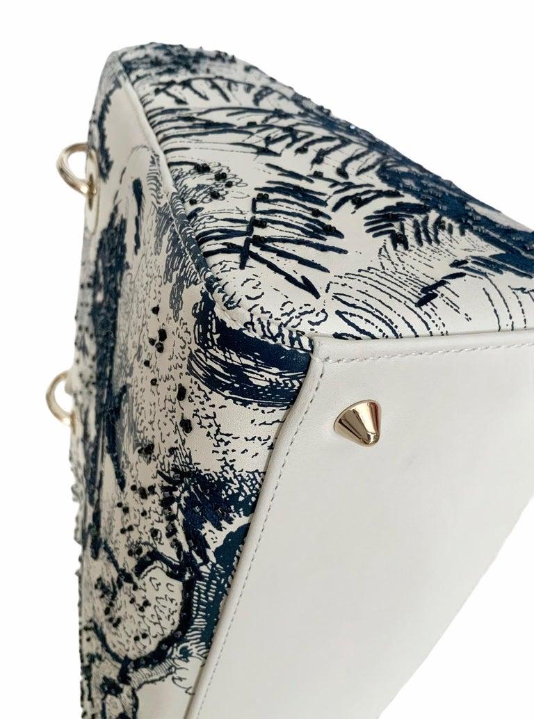Christian Dior Limited Edition Toile de Jouy Lady Dior Medium Bag 4