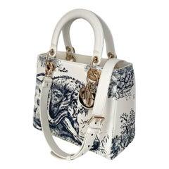 Christian Dior Limited Edition Toile de Jouy Lady Dior Medium Bag