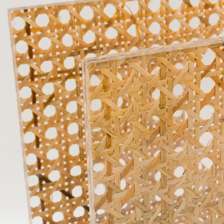 Christian Dior Lucite Rattan Magazine Rack Holder For Sale 3