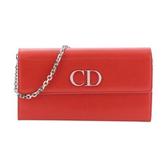 Christian Dior Mania Rendez Vous Wallet On Chain Leather