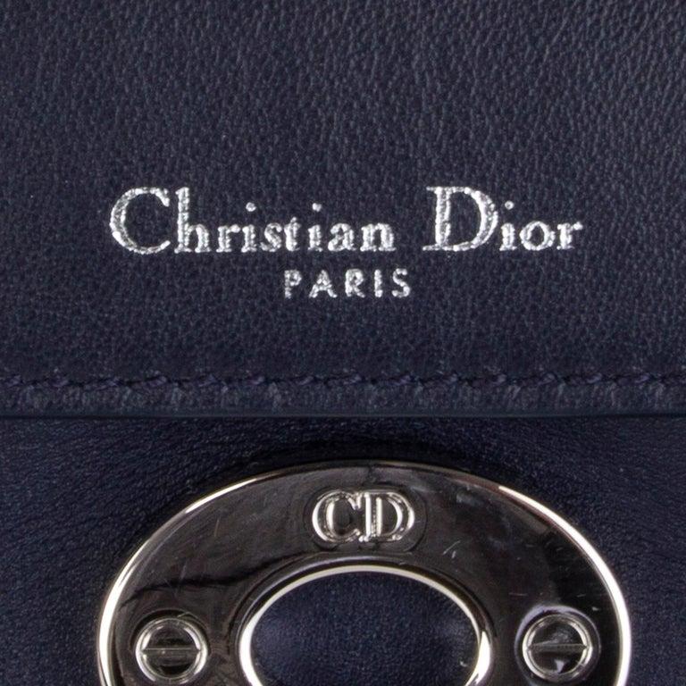 CHRISTIAN DIOR midnight blue leather BE DIOR MINI Shoulder Bag For Sale 1