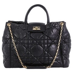Christian Dior Milly La Foret Shopping Tote Cannage Quilt Lambskin Large