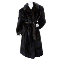 Christian Dior Mink Fur Belted Coat