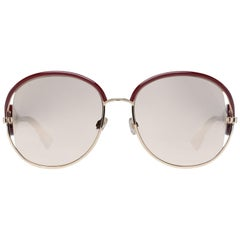 Christian Dior Mint Women Burgundy Sunglasses Diornewvolute NOASQ57 57-18-147 mm