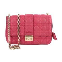 Christian Dior Miss Dior Flap Bag Cannage Quilt Lambskin Medium