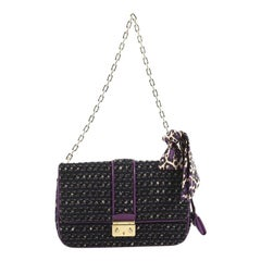 Christian Dior Miss Dior Flap Bag Tweed Medium