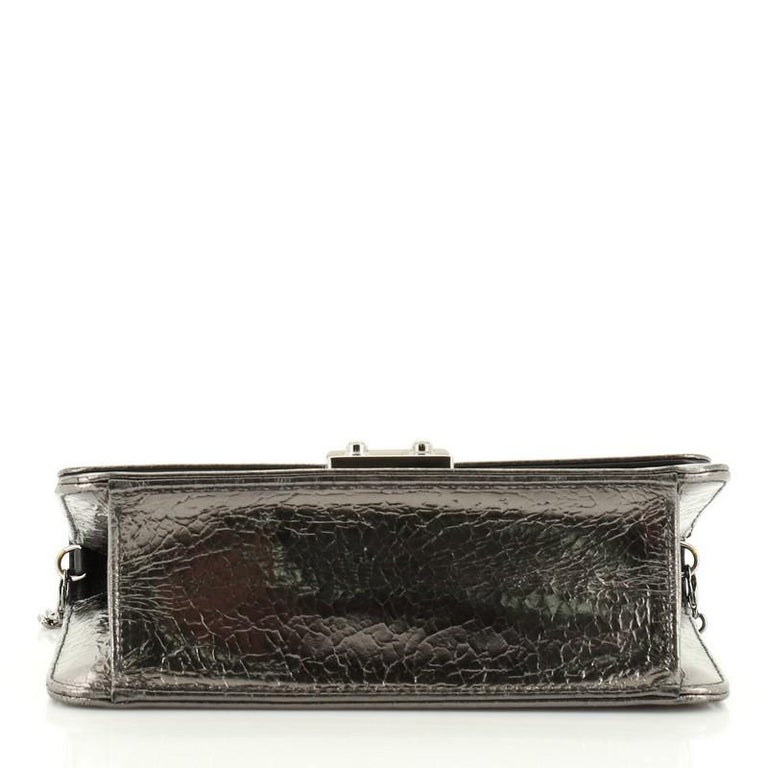 Women's or Men's Christian Dior Miss Dior Promenade Pouch Crinkled Patent Large For Sale