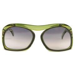 Christian Dior Model 2043 Oversized Green Sunglasses Grey Lenses, 1970s/1980s
