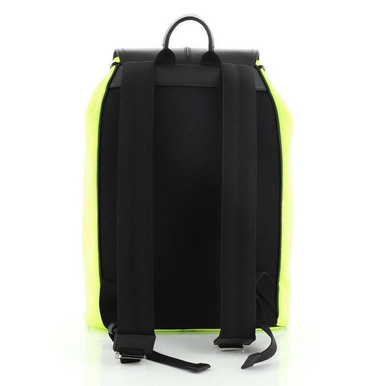 Christian Dior Motion Rucksack Backpack Nylon and Leather Medium In Fair Condition For Sale In New York, NY