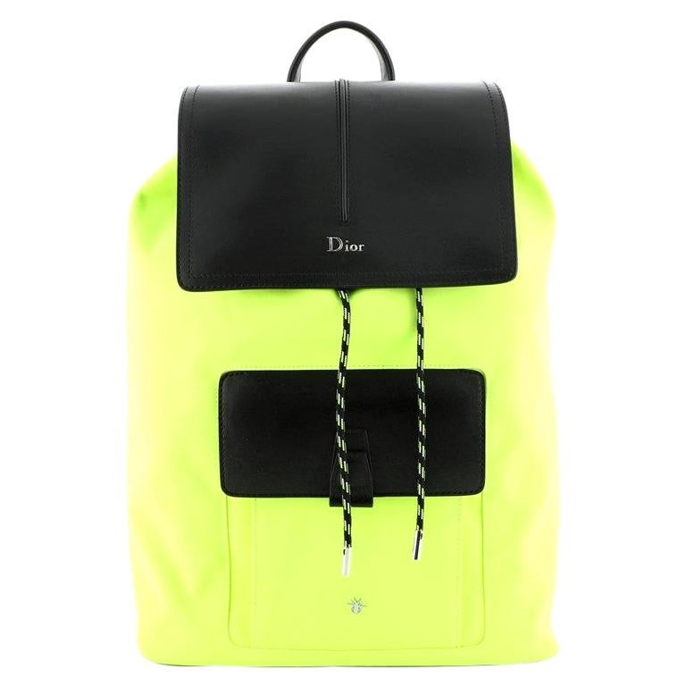 Christian Dior Motion Rucksack Backpack Nylon and Leather Medium For Sale