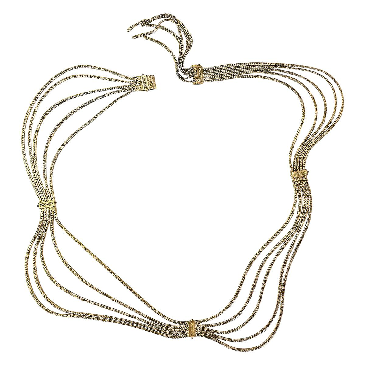 Christian Dior Multi-Strain Gold Tone Rope Chain belt