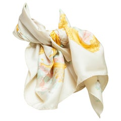 Christian Dior Multicolor Printed Silk Scarf