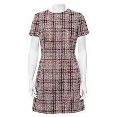Christian Dior Multicolor Tweed Sheath Dress L