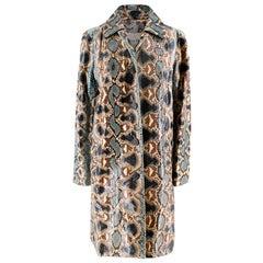 Christian Dior Natural Blue Snakeskin Coat M 12