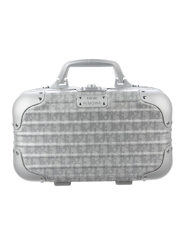 Christian Dior NEW Limited Edition Silver Aluminum Travel Top Handle Satchel Bag For Sale 1