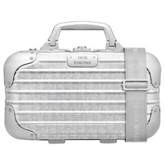 Christian Dior NEW Limited Edition Silver Aluminum Travel Top Handle Satchel Bag