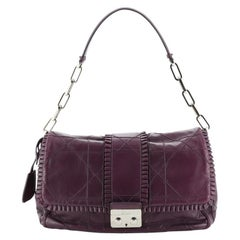 Christian Dior  New Lock Ruffle Flap Bag Cannage Quilt Lambskin Small