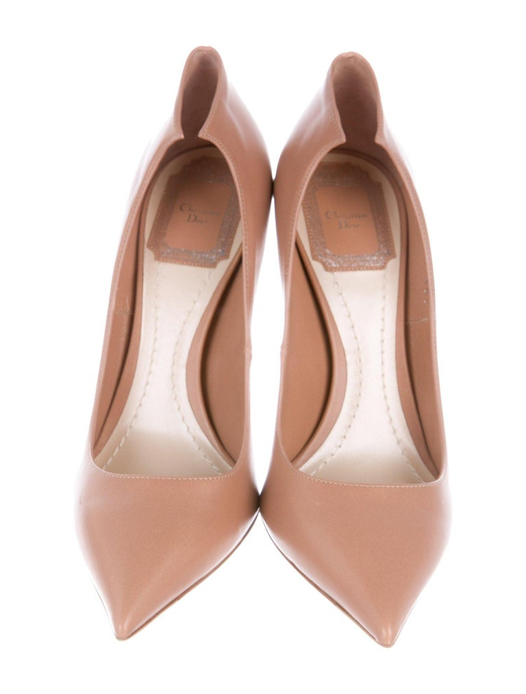 fd3164d73 Beige Christian Dior NEW Nude Blush Leather Crystal Evening Pumps Heels in Box  For Sale