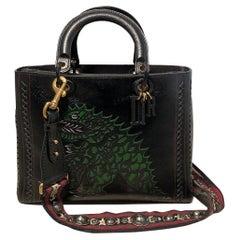 Christian Dior Niki de Saint Phalle Large Lady Dior Dragon Bag