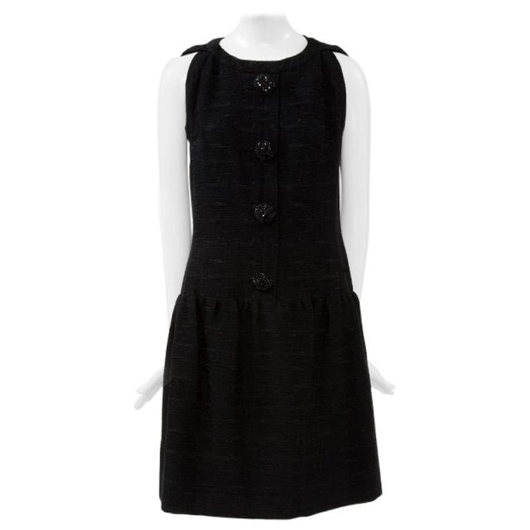 Christian Dior Numbered Demi Couture Little Black Cocktail Dress