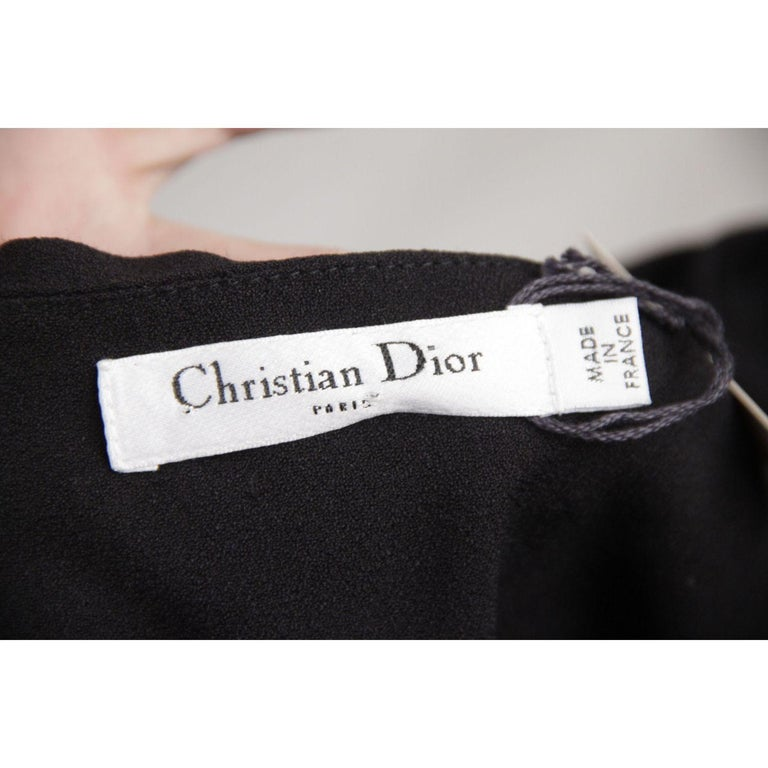 Black Christian Dior One Shoulder Dress Size 6 For Sale
